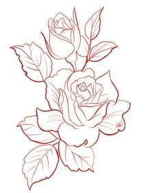 d516126b26c98 Pin by Patricia P on Cowboys | Rose outline drawing, Traditional ...