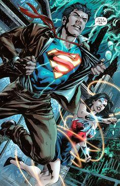 Superman and Wonder Woman by Ivan Reis