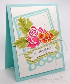 Mama Mo Stamps: Thinking of You Bouquet