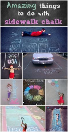 Amazing things to do with sidewalk chalk! - Page 2 of 2 - Princess Pinky Girl