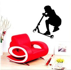 """21.7"""" X 25.6"""" Stunt Wall Stickers Sports And Hobbies Wall Art Decal Stunt Scooter Teenagers Removable Vinyl Wall Sticker Mural Room Home Decal Art by HDTOP, http://www.amazon.co.uk/dp/B00E95F6Z6/ref=cm_sw_r_pi_dp_vQVdtb1DFBHKV"""