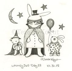 Join me as I sketch every day for an entire year! whimsy 365 10.31.15