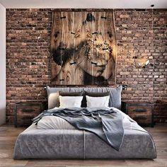 37 Trendy bedroom interior design ideas home decor brick walls Basement Bedrooms, Bedroom Loft, Home Bedroom, Modern Bedroom, Bedroom Decor, Bedroom Ideas, Trendy Bedroom, Bedroom Lighting, Bedroom Rustic