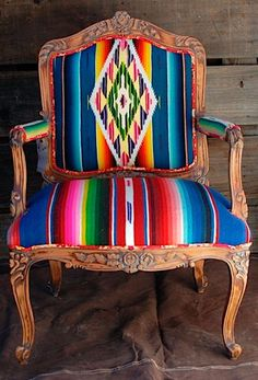 Serape recovered chair. In. LOVE. Photo ddranchwear.com