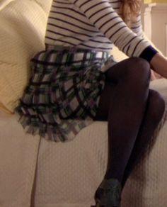 Gossip Girl Serena van der Woodsen Sheer Plaid Skirt