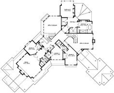 Houseplans.com Craftsman Upper Floor Plan Plan #132-179