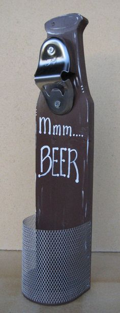 Wall Mounted Beer Bottle Opener for Dad's Bar