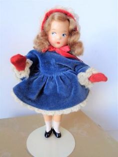 1937-Madame-Alexander-JANUARY-Tiny-Betty-7-034-Composition-Doll-in-Unmarked-Box