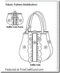 free #sewing #pattern :: ruffle tote #bag plus matching #purse