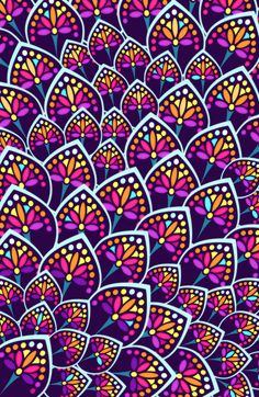 Madeleine Pattern Art Print by TotalBabyCakes - X-Small Pattern Floral, Pattern Art, Pattern Design, Purple Pattern, Textures Patterns, Print Patterns, Color Patterns, Wallpaper Backgrounds, Iphone Wallpaper