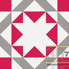 How to: Union Star Quilt Block - 30 Days of Sewing Quilt Blocks- Star Version!