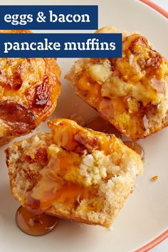 Eggs and Bacon Pancake Muffins – Take your morning food to-go with this recipe for savory muffins. All your favorite breakfast ingredients can be found in this dish!
