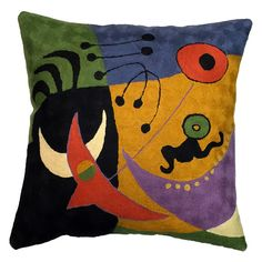 High quality, Contemporary Throw Pillows are fair trade, hand embroidered and inspired by contemporary artists; Miro, Picasso, Kandinsky, Matisse and Klimt.