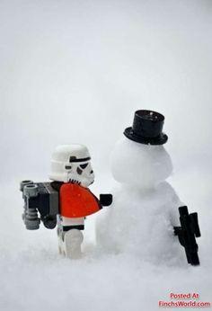 lego storm trooper snowman