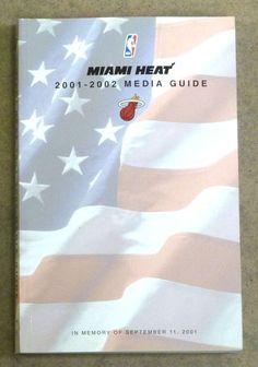 MIAMI HEAT NBA BASKETBALL MEDIA GUIDE - 2001 2002 - NEAR MINT