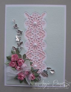 Lattice & Lace 1 by PennyFlowers - Cards and Paper Crafts at Splitcoaststampers