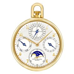 Estate Patek Philippe Ref. 725 Perpetual Calendar Astronomical Pocket Watch