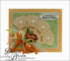 Darise Bruno: Crafting with Darsie: Tutorial Tuesday: Victorian Fans - 8/5/14 (JustRite stamps)