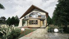 Casa cu etaj 69 | Proiecte de case personalizate | Arhitect Gabriel Georgescu & Echipa Modern House Facades, Modern House Design, Facade House, Design Case, Home Fashion, Krishna, House Plans, Villa, Exterior