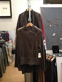 Beautiful sweaters at Roots in Chestnut Hill.