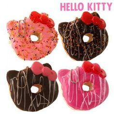 Sanrio Hello Kitty Squishy Donut Ball Chain Set