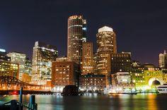 Boston Skyline Aglow