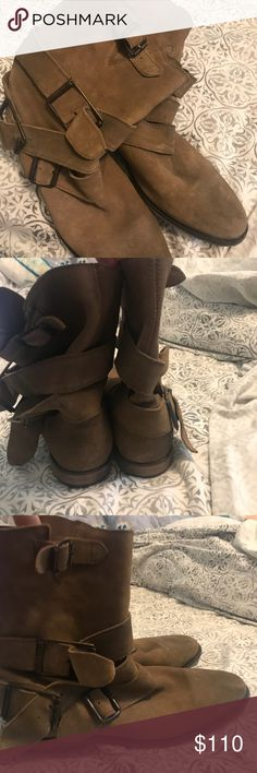 💜SALE💜Free People boots Cute boots with buckles only worn twice! Free People Shoes Ankle Boots & Booties
