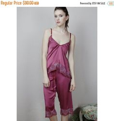 36a1dfb65 stretch silk pajama pants with cotton embroidered lace trim - made to order  Silk Satin