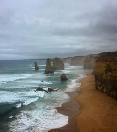 Spontaneous trip on the Great Ocean Road .. #melbourne #victoria #australia #greatoceanroad #portcambell #12apostles #dayout #roadtrip #view #rainyday #clouds #sea #sand #nature #scenic #travel #waves #nofilter #janksandgeetsgotravelling by jankikanabar http://ift.tt/1ijk11S
