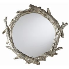 create a frame or mirror frame with driftwood