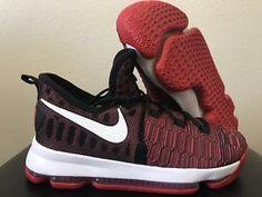 4260bd51199 Nike Zoom KD9 GS Black Red Kevin Durant 855908-610 7Y Kids 8.5 Womens  125