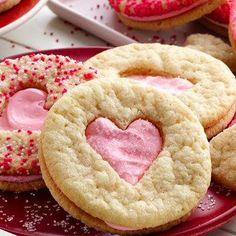 Valentine Heart Sandwich Cookies Recipe | Key Ingredient