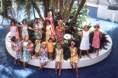 """""""It's always summer somewhere"""": affluent young Palm Beach women modelling Pulitzer's colourful dresses in 1964"""