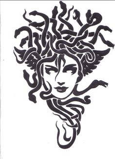 Tribal Medusa by damien-gosh on DeviantArt Medusa Kunst, Medusa Art, Medusa Gorgon, Medusa Tattoo, Medusa Drawing, Jugendstil Design, Tatuagem Old School, Desenho Tattoo, Black Tattoos