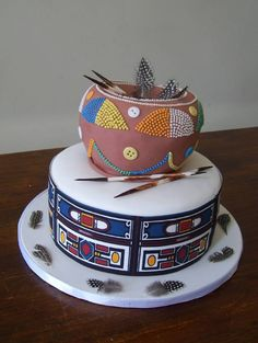 60 Beautiful African Wedding Cake You Will Love for Your Inspirations - VIs-Wed Traditional Wedding Decor, African Traditional Wedding, Traditional Cakes, Pretty Cakes, Beautiful Cakes, Amazing Cakes, African Wedding Cakes, African Weddings, Africa Cake