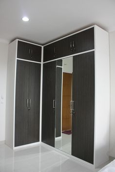 customized l shaped wardrobe in japanese bamboo hpl finish a clean look design - Interior Design Ideas For L Shaped Bedroom