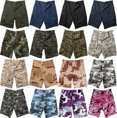 Camouflage Military BDU Combat Cargo Camo Army Shorts #Rothco #CargoBDUShorts