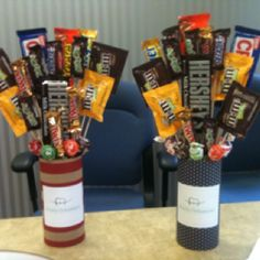 DIY Candy Bar Bouquet!!! Right around $7.50 each!! So easy and SOO cute!!