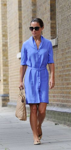 Pippa Middleton wearing her French Sole India Nude Leather ballet flats around London.