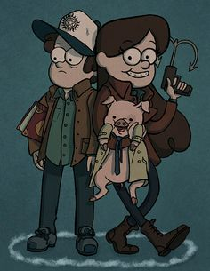 Mabel as Dean Winchester, Dipper as Sam WInchester, Waddles as Cas. >>> WHUT. 0.0 This... the frickle frack... WHUT.