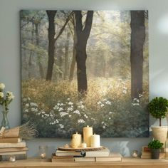 Product Details Mornings in the Forest Canvas Art Print Morgen im Wald Leinwand Kunstdruck Canvas Art Prints, Canvas Wall Art, Living Room Canvas Art, Hand Painted Canvas, Forest Painting, Forest Art, Painting Art, Misty Forest, China Painting