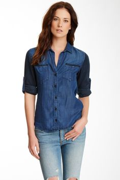 Relaxed Denim Chambray shirt- need this!