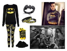 Watching Batman with BVB ♡ by dadyrabbit on Polyvore featuring polyvore fashion style Bearpaw