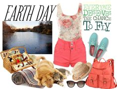 """""""Earth day"""" by ddeejjaannaa ❤ liked on Polyvore"""