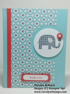 Carolyn's Paper Fantasies: Monday Lunchtime Sketch Challenge 252 (TSSC252) Stampin Up Sale-a-bration Patterned Occasions SAB 2013