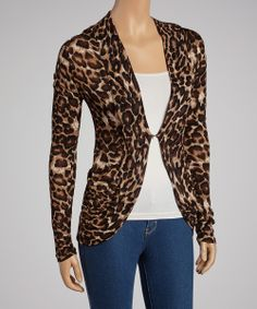 Brown Leopard Hacci Open Cardigan...you get 15% off showing up with leopard clothes at Salon MOOV;-)
