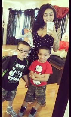 With her boys♡