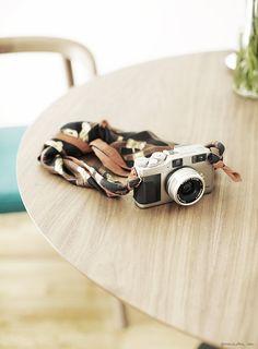 Scarf as a camera strap