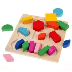 New Colorful Baby Kids Toys Puzzles Geometry Education Wooden Toys Puzzles For Children Montessori Early Toy Gift Wholesale 2015 #>=#>=#>=#>=#> Click on the pin to check out discount price, color, size, shipping, etc. Save and like it!