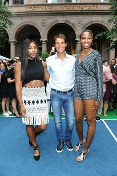 Serena Williams, Rafa Nadal and Venus Williams. Pre US Open 2016